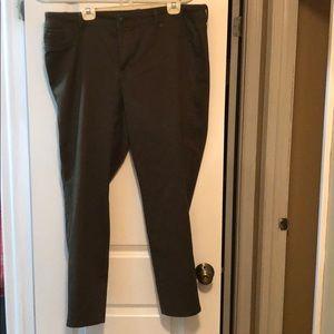 Olive green pants - dress barn - size 18